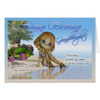 Birthday Granddaughter Cutie Pie Collection beach Card