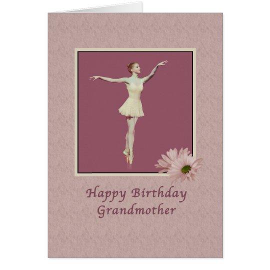 Birthday, Grandmother, Ballerina On Pointe Card