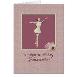 Birthday, Grandmother, Ballerina On Pointe Greeting Card