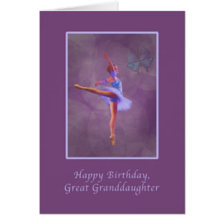 Birthday, Great Granddaughter, Ballerina Greeting Card