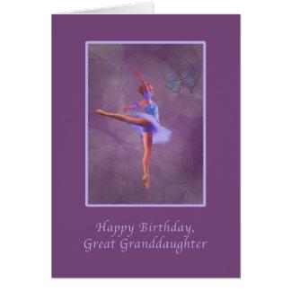Birthday, Great Granddaughter, Ballerina Greeting Card