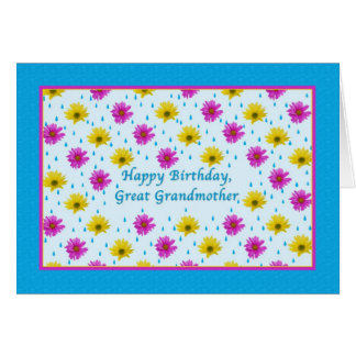 Birthday, Great Grandmother, Daisies Greeting Card