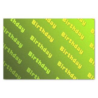 Birthday  (green) tissue paper