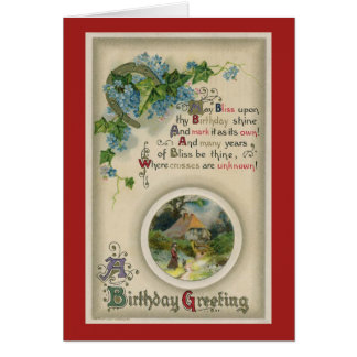 Birthday Greeting 1910 Card