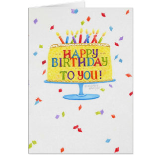 Birthday Greeting Card Happy Birthday To You Cake
