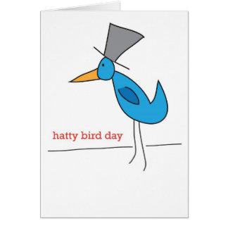 Birthday Greeting Card - Hatty Bird Day!