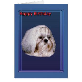 Birthday Greeting Card with Shih Tzu