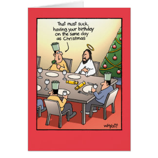 Birthday Greeting Suck Humour Christmas Card