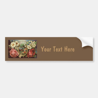 Birthday Greeting With Roses Bumper Sticker