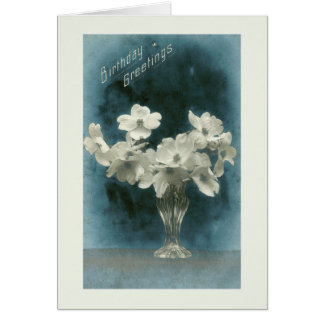 Birthday Greetings: Dogwood Bouquet Card