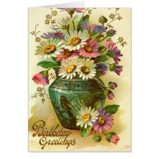 Birthday Greetings Flowers 1915 vintage Cards
