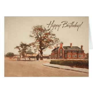 Birthday Greetings. Pub at the crossroads. Card