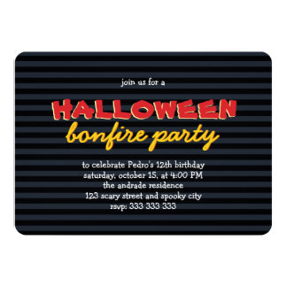 Birthday Halloween Party Bonfire Teen Boy 12th Card