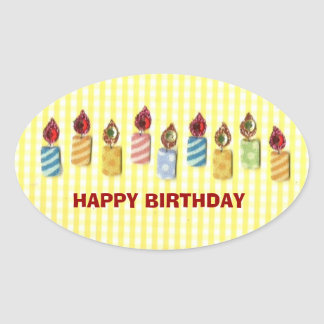 BIRTHDAY: Happy Birthday, Birthday Candle Sticker