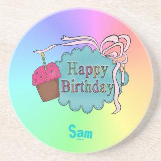 Birthday Happy Birthday Drink Coaster