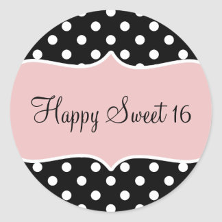 Birthday Happy Sweet 16 Classic Round Sticker