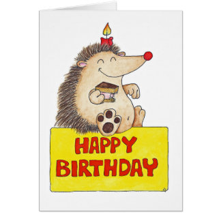 BIRTHDAY HEDGEHOG greeting card by Nicole Janes