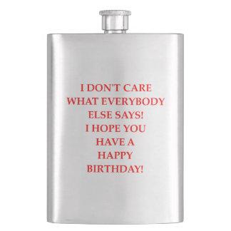 birthday hip flask
