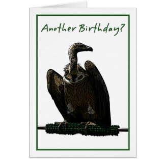 Birthday Humor Vulture Illustration Card