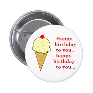 BIRTHDAY ICE CREAM BUTTON