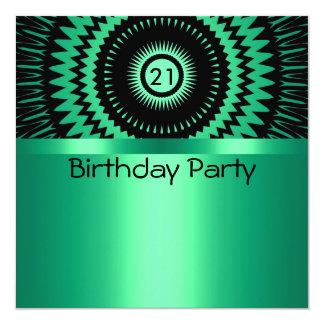 Birthday Invitation Black & Aqua