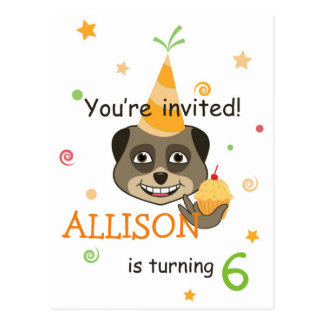 Birthday invitation design postcard