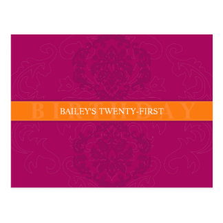 BIRTHDAY INVITATION :: finesse 5 Postcard