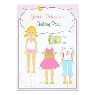 Birthday Invitation - Paper Doll