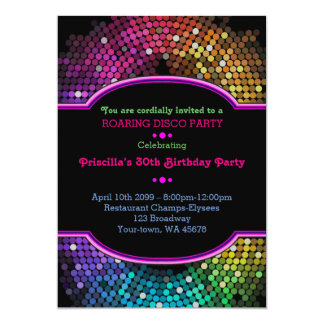 Birthday invitation Party, Gatsby style, disco