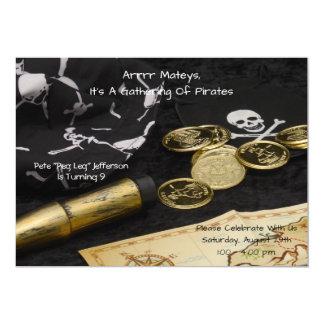 Birthday Invitation--Pirate Card