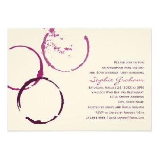 Birthday Invitation Wine Theme