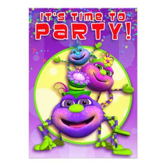 Birthday Invite-Itsy Bitsy Spiders GiggleBellies