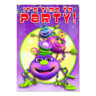 Birthday Invite-Itsy Bitsy Spiders (GiggleBellies) Card
