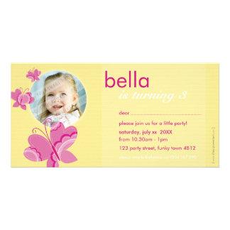 BIRTHDAY INVITE PHOTOCARD :: flutterbybutterfly 2 Customized Photo Card