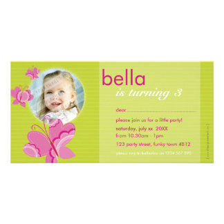 BIRTHDAY INVITE PHOTOCARD :: flutterbybutterfly 4 Photo Card Template