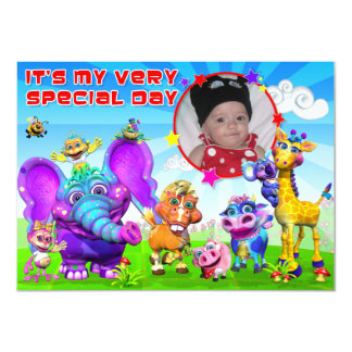 """Birthday Invite with """"The GiggleBellies"""""""