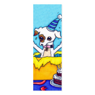 Birthday Jack Russell in a present box Pack Of Skinny Business Cards