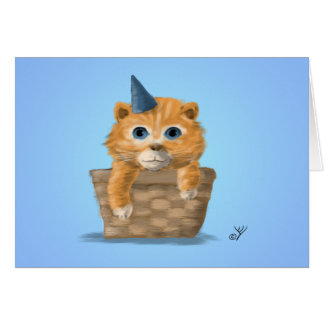 Birthday Kitten Greeting Card