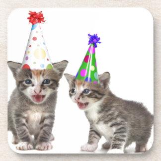 birthday kittens beverage coasters