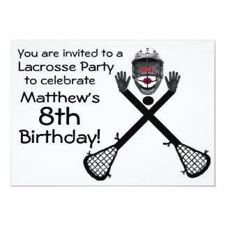 Birthday Lacrosse Party Invitation