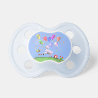 Birthday Lamb and Balloons Pacifiers