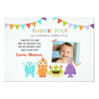 Birthday Little Monster Thank You Card 13 Cm X 18 Cm Invitation Card