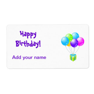 Birthday Lollipop Tags Party Favors Wrapper Labels