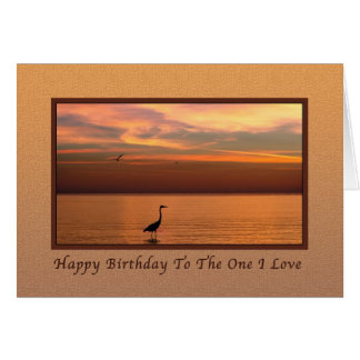Birthday,  Lover, Spouse, Ocean View at Sunset Card