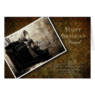 BIRTHDAY - MAKING MEMORIES - ANTIQUE CAMERA CARD