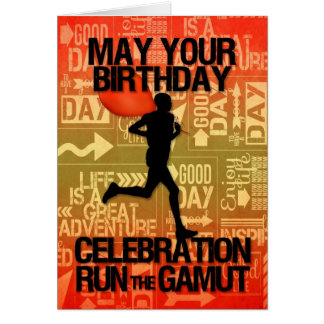 Birthday Male Runner Sport Theme Greeting Card