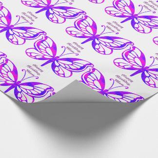 Birthday, mom, butterflies in purple.