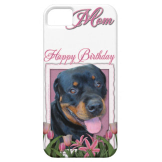 Birthday MOM - Pink Tulips - Rottweiler - Harley Barely There iPhone 5 Case