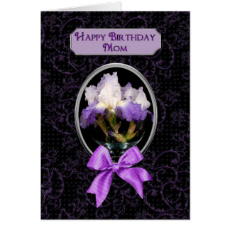 Birthday, Mom - Purple Iris Card