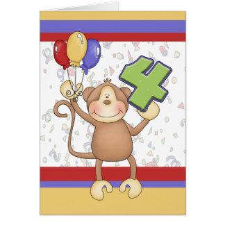 Birthday Monkey Card